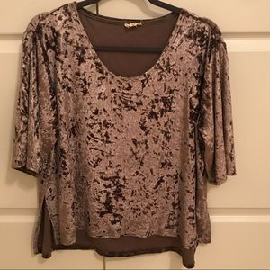 Crushed Velvet Boutique Top